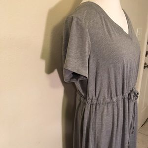 Torrid maxi Gray V-neck dress